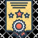 Certificate Diploma Achievement Icon