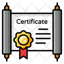 Certificate Diploma Degree Icon