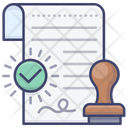 Authority Certificate Document Icon