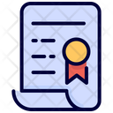Certificate Document Sign Icon
