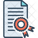 Certificate Affidavit Authentication Icon