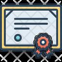 Certificate Affidavit Authentication Icon