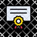 Certificate Degree Achievement Icon