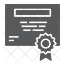 Certificate Education Diploma Icon