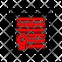Printer Document Certificate Icon