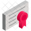 Business Finance Certificate Icon