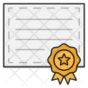 Certificate Degree Achievement Icon