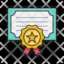 Certificate Degree Award Icon
