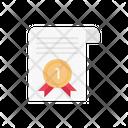 Certificate Award Achievement Icon