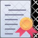 Certificate Diploma License Icon