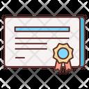 Certificate Reward Awardappreciation Icon