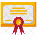 Certificate Certification Diploma Icon