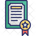 Certificate Certification Deed Icon