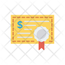 Certificate Licence Document Icon