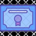 Certificate Achievement Award Icon