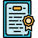 Certificate Degree Diploma Education License Icon