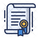 Certificate Badge Scroll Icon