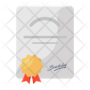 Certificate Award Deed Icon