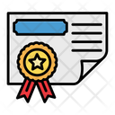 Certificate Contract Document Icon