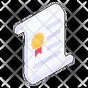 Certificate Award Certificate Achievement Certificate Icon