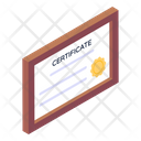Certificate Competence Document Academic Certificate Icon