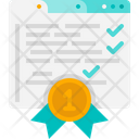 Certificate Agreement Award Icon