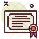 Certificate Verified Document Icon