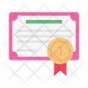 Certificate Degree Education Icon