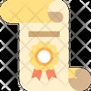 Ertificate Degree Diploma Icon