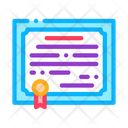 Certificate License Electronic Icon