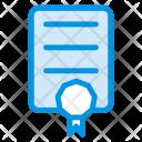 Certificate Document Achievement Icon