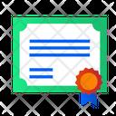 Certificate Achievement Document Icon
