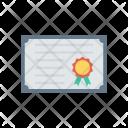 Certificate Document Degree Icon