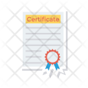 Certificate Degree Diploma Icon
