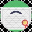 Award Certificate Deed Icon