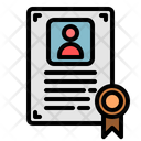 Certificate Contract Diploma Icon