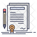 Business Certificate Contract Icon