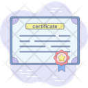 Award Trophy Certificate Icon