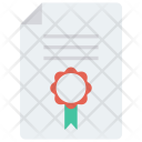 Certificate Degree Diploma Icon