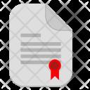 Certificate Operation License Icon