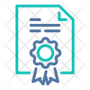 Certificate Document Diploma Icon