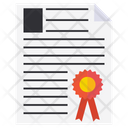 Certificate Certification Degree Icon