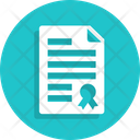 Certificate Contract Patent Icon