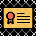 Certificate Achievement Education Icon