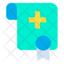 Medical Certificate Degree Education Icon