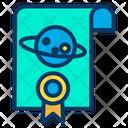 Space Certificate Achievement Award Icon