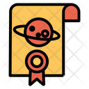Space Certificate Achievement Award Icon