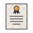 Certificate Document Warranty Icon