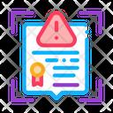 Certificate Alert Icon