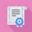 Certificate Seo Business Icon